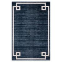 Jill Zarin Lenox Hill Uptown 4' x 6' Power-Loomed Area Rug in Navy/Blue