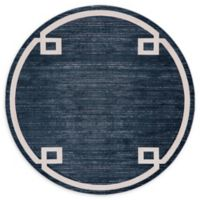 Jill Zarin Lenox Hill Uptown 8' Round Power-Loomed Area Rug in Navy/Blue