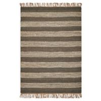 Hang Ten Hang Ten Rugs 5' X 7' Woven Area Rug in Slate/ivory