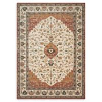 Magnolia Home by Joanna Gaines Evie 3'6 x 5'2 Area Rug in Ivory/Terracotta