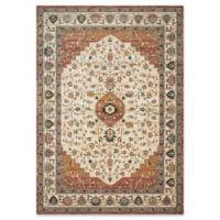 Magnolia Home by Joanna Gaines Evie 7'7 Round Area Rug in Ivory/Terracotta