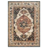 Magnolia Home by Joanna Gaines Evie 5'1 Round Area Rug in Ivory/Spice
