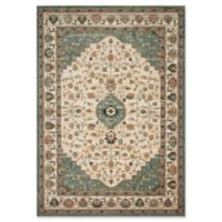 Magnolia Home by Joanna Gaines Evie 5'1 Round Area Rug in Ivory/Jade