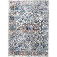 Shabby Chic Heritage Newburyport 7'10 x 10'2 Power-Loomed Area Rug in Blue