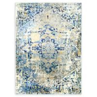 Shabby Chic Heritage Brandt 5'2 x 7'2 Power-Loomed Area Rug in Grey/Blue