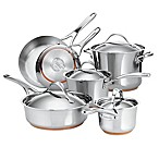 Anolon® Nouvelle Copper Stainless Steel 10-Piece Cookware Set