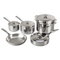Le Creuset® Tri-Ply Stainless Steel 10-Piece Cookware Set
