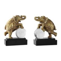 Uttermost Circus Act Elephant Bookends in Gold (Set of 2)