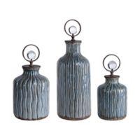 Uttermost Mathias Ceramic Vessels in Grey/Blue (Set of 3)