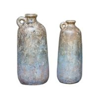 Uttermost Ragini Terracotta Decorative Bottles in Caramel (Set of 2)