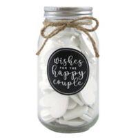 60-Piece Wooden Hearts Wedding Wish Jar