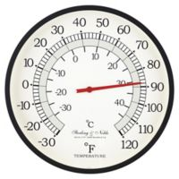 Sterling & Noble™ 16-Inch Outdoor Wall Thermometer in Black