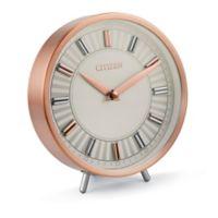 Citizen Rose Gold Tone Circular Desk Clock
