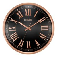 Citizen Gallery 14-Inch Circular Wall Clock in Rose Gold/Black