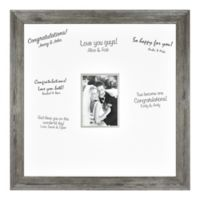 Wedding Photo 5-Inch x 7-Inch Signature Photo Frame in Aged Silver