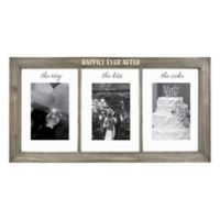 Wedding 3-Opening 4-Inch x 6-Inch Float Frame in Grey