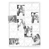 Industries 24-Photo Collage Clip Heart Picture Frame in White