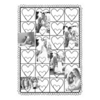 Industries 24-Photo Collage Clip Heart Picture Frame in Black
