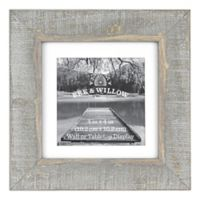Bee & Willow™ Home 4-Inch x 4-Inch Matted Wooden Picture Frame in Grey