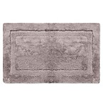 Wamsutta® Luxury 24-Inch x 40-Inch Border Plush MicroCotton Bath Rug in Gunmetal