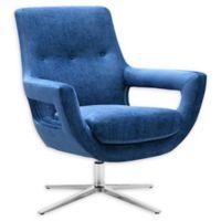 TOV Furniture™ Velvet Swivel Fifi Chair in Navy
