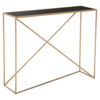 Zuo® Sixty Console Table in Black/Gold