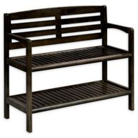 New Ridge Home Goods® Abingdon Bench in Espresso