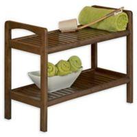 New Ridge Home Goods® Birch Wood Abingdon Bench in Chestnut