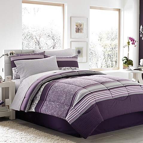 Jules complete comforter set bed bath beyond - Bed bath and beyond bedroom furniture ...