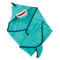 Baby Aspen Dino Baby T-Rex Hooded Towel in Blue