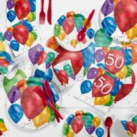 Creative Converting™ 81-Piece Balloon Blast 50th Birthday Party Supplies Kit