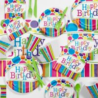 Creative Converting™ 85-Piece Bright and Bold Birthday Party Supplies Kit