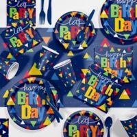 Creative Converting 81-Piece Geo-Pop Birthday Party Supplies Kit