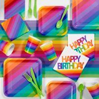 Creative Converting 81-Piece Rainbow Birthday Party Supplies Kit
