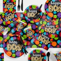 Creative Converting 81-Piece Balloon Birthday Party Supplies Kit