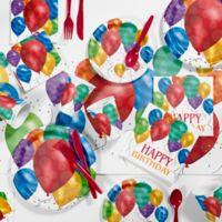 Creative Converting 81-Piece Balloon Blast Birthday Party Supplies Kit