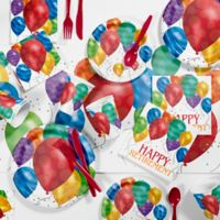 Creative Converting 81-Piece Balloon Blast Retirement Party Supplies Kit