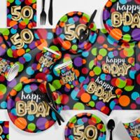 Creative Converting 81-Piece Balloon Blast 50th Party Supplies Kit