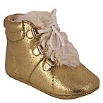 Jessica Simpson Size 6-9M Metallic Crackle Shoe in Gold