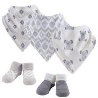 Hudson Baby Size 0-9M 5-Piece Koala Bandana Bib & Socks Set