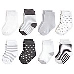 Touched by Nature Size 6-12M 8-Pack Organic Socks in Grey