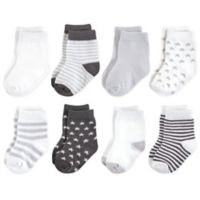 Touched by Nature Size 12-24M 8-Pack Organic Socks in Grey