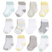 Hudson Baby® Size 12-24M 12-Pack Basic Neutral Crew Socks