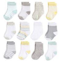 Hudson Baby® 6-12M 12-Pack Basic Neutral Crew Socks