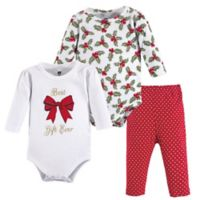 Hudson Baby® Size 12-18M 3-Piece Best Gift Layette Set in Red