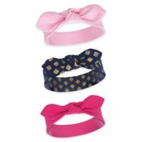 Yoga Sprout Size 0-24M 3-Pack Ikat Headbands in Gold