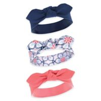 Yoga Sprout Size 0-24M 3-Pack Ikat Headbands in Blue