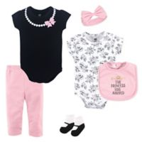 Hudson Baby® Size 9-12M 6-Piece Princess Layette Set in Pink
