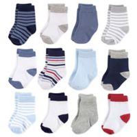 Hudson Baby® 12-Pack Basic Boy Crew Socks