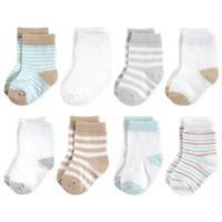 Touched by Nature Size 12-24M 8-Pack Neutral Organic Socks